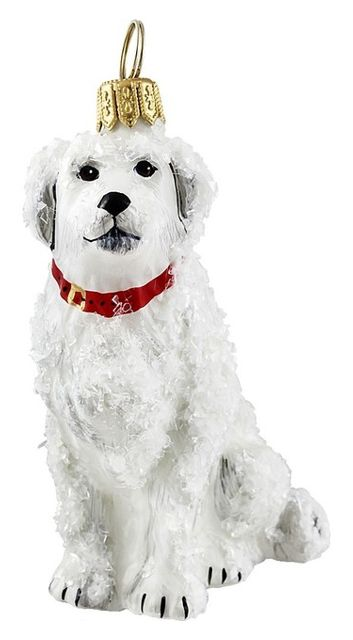 Great Pyrenees Snowy Version Ornament - Contemporary - Christmas Ornaments - by Joy To The World 571524453463